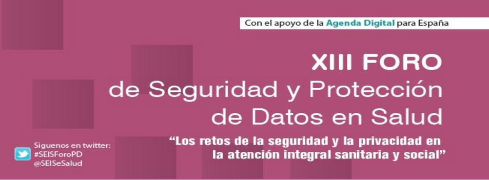 XIII Foro Seguridad y Prot Datos en Salud
